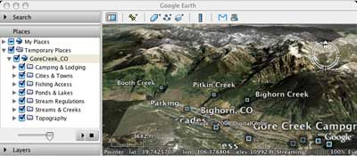 View Fly Fishing Maps Using Google Earth TroutStreamGPScom - Google world map satellite free